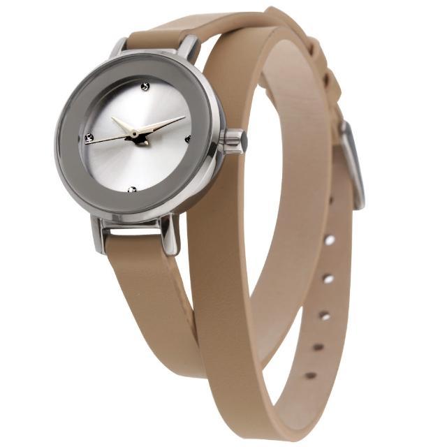【MANGO】星球系耀眼經典時尚腕錶(杏/24mm)