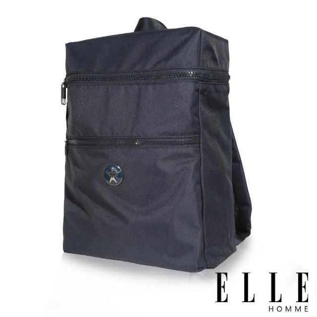 【ELLE HOMME】巴黎風輕旅商務大容量機能後背包(藍 EL83893-08)