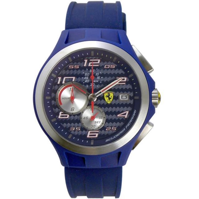 【Scuderia Ferrari 法拉利】碳纖維三眼計時運動時尚腕錶(44mm/FA0830075)