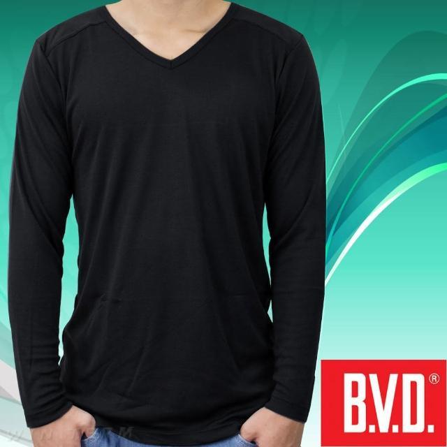 【BVD】光動能迅熱V領長袖衫 1入組(台灣製造)