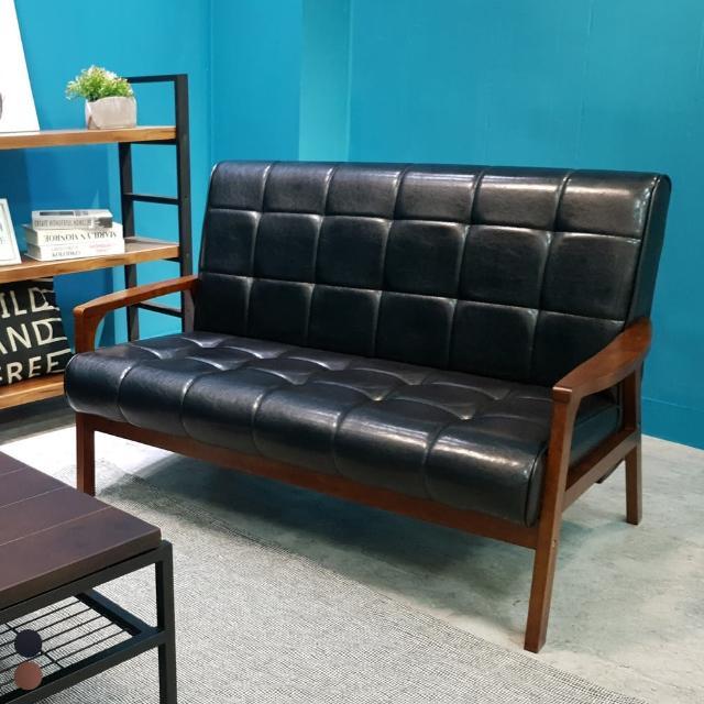 【BN-Home】WEIMAR 威瑪北歐摩登皮沙發 升級版-獨立筒雙人座(雙人沙發/休閒椅/實木沙發)