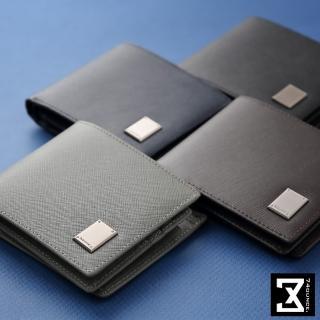 【74盎司】Cross 十字紋真皮橫式短夾_零錢袋(N-552)
