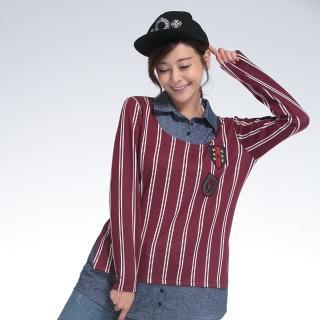 L'LAR歐風厚磅保暖層次顯瘦上衣組(X)