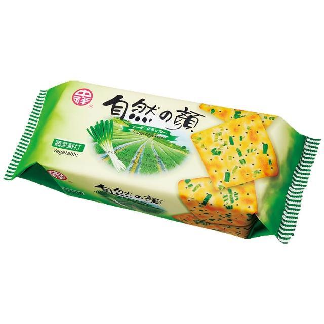 【中祥】自然之顏蔬菜蘇打餅乾140g