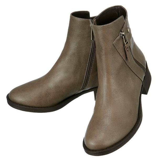 韓國直送messe斜式剪裁羊皮短靴(S)