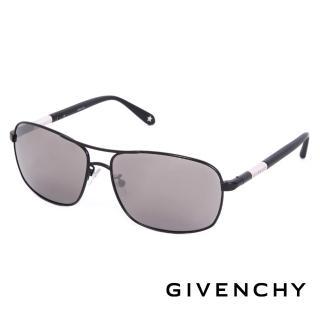 【GIVENCHY 法國魅力紀梵希】都會玩酷飛行員復古太陽眼鏡(-黑色-GISGV4110531)
