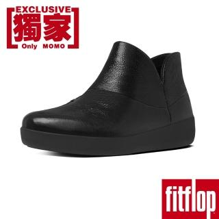 【FitFlop TM】SUPERMOD TM LEATHER ANKLE BOOTS(黑色)