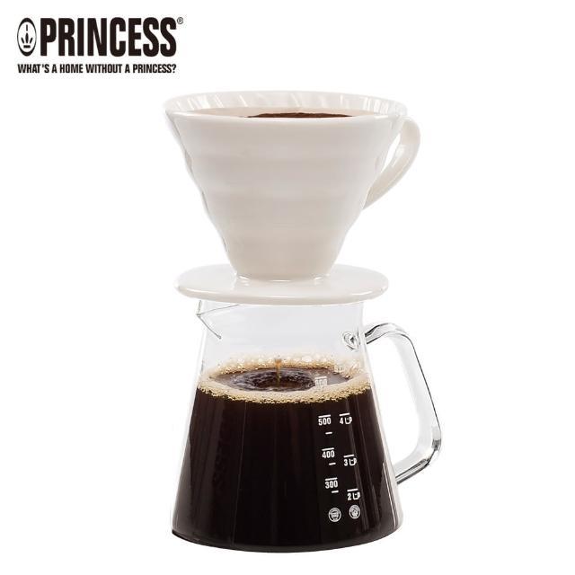 【Princess荷蘭公主】手沖陶瓷濾杯-咖啡壺組(241100E快速到貨)