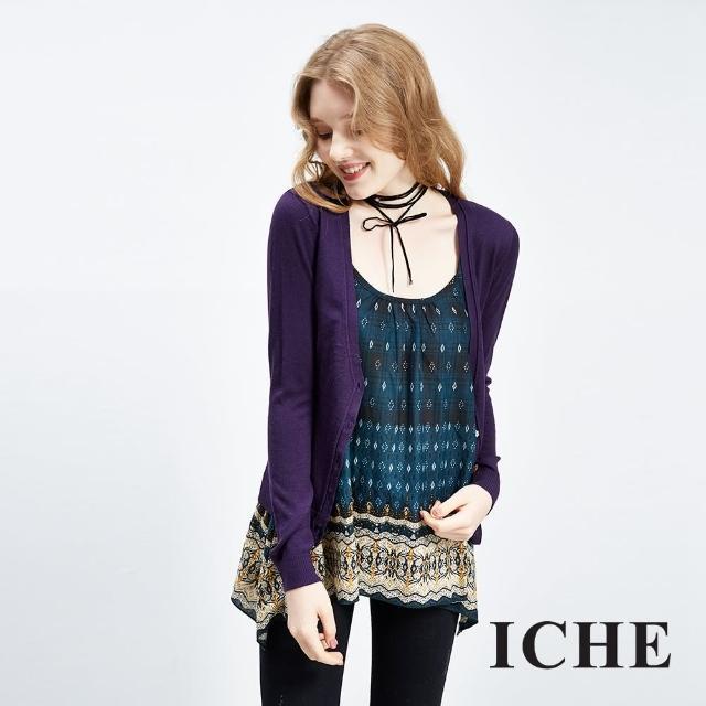 【ICHE 衣哲】羊毛輕暖純色針織外套 三色