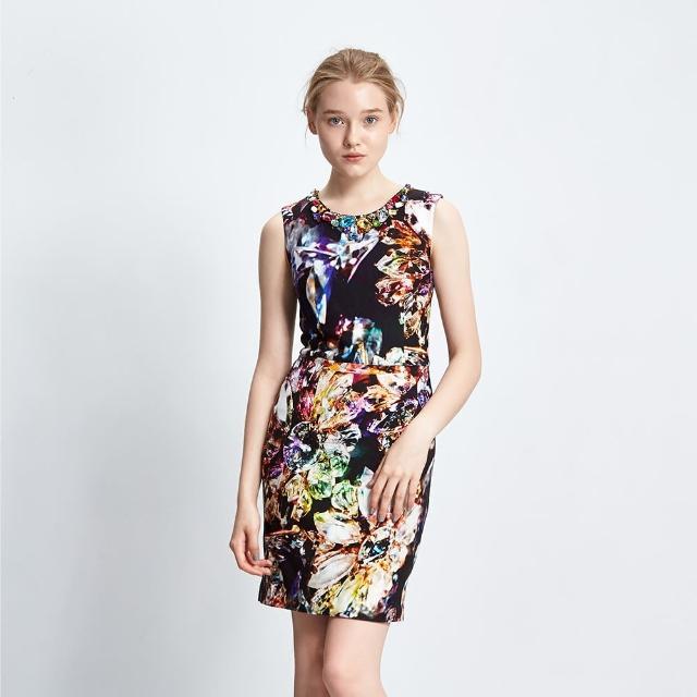 【ICHE 衣哲】立體寶石印花禮服洋裝
