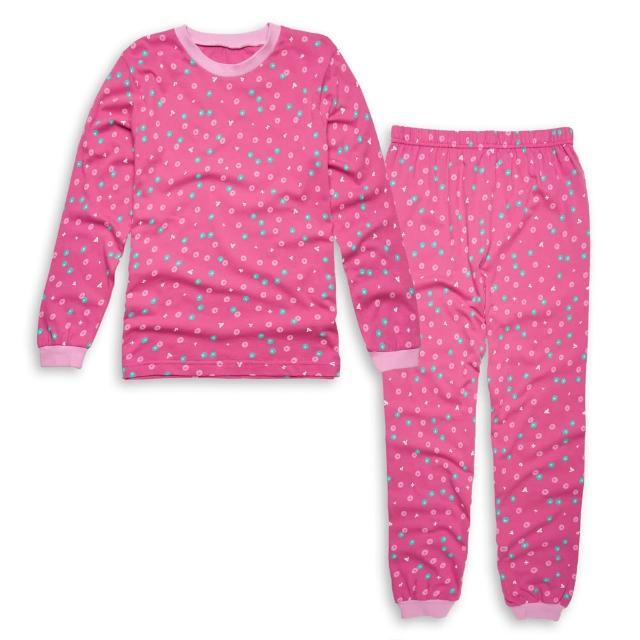 【annypepe】女童美國甜心長袖冷氣衫家居服/桃紅 美國精梳棉