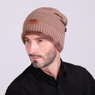 【米蘭精品】針織毛線帽男帽子(韓版加絨滑雪保暖防寒男配件6色73if3)