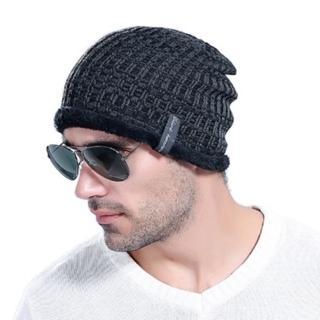【米蘭精品】針織毛線帽男帽子(韓版經典加絨保暖防寒男配件6色73if53)