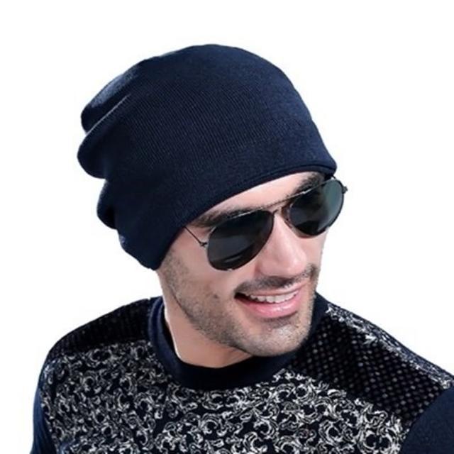 【米蘭精品】針織毛線帽男帽子(韓版簡約純色加絨保暖防寒男配件3色73if44)