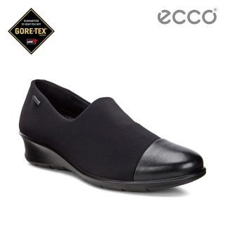 【ECCO】FELICIA 低調優雅防水低跟鞋(黑 21709353960)