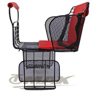 【鐵馬行】自行車舒適兒童安全後座椅-台製-紅(12H)