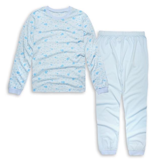 【annypepe】天絲小花長袖冷氣衫家居服/水色 天絲棉