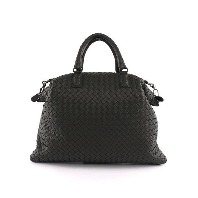 【BOTTEGA VENETA】小羊皮CONVERTIBLE編織手提肩背二用包(黑色)