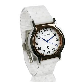 【Arseprince】Y世極簡時尚中性錶(白色)
