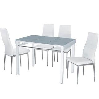 【AT HOME】馬可3.6尺桌椅組1桌4椅(2色可選)