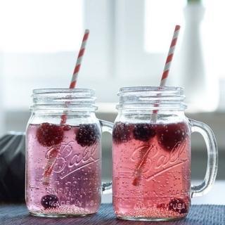 【美國Ball梅森罐】玻璃密封罐 24oz 寬口馬克杯(4入)