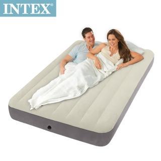 【INTEX】新型氣柱-雙人植絨充氣床墊(寬137cm)