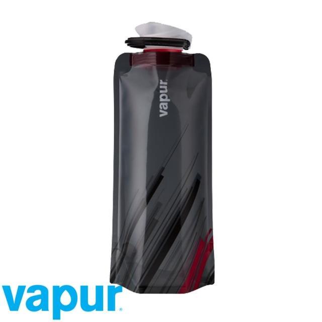 【美國Vapur】Element 運動摺疊水袋 0.7L 黑火 #10159(運動水壺 摺疊水壺)