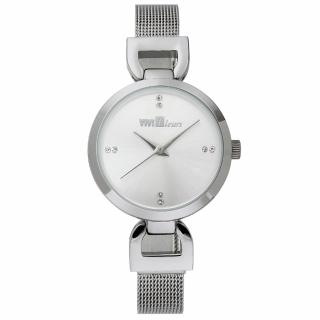 【ViVi Fleurs】微感極簡素雅晶鑽時尚腕錶(銀/29mm)