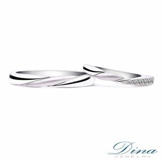 【DINA JEWELRY蒂娜珠寶】『永恆守護』 美鑽對戒(鑽石對戒 系列)