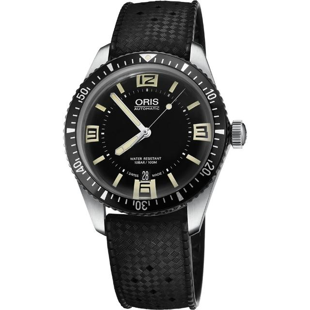 【ORIS】Divers Sixty-Five 1965復刻潛水機械錶-黑/40mm(0173377074064-0742018)