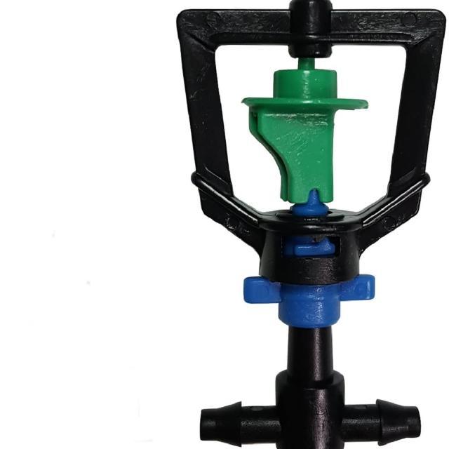【灑水達人】2分迴轉型360度旋轉加2分三通10個(綠藍)