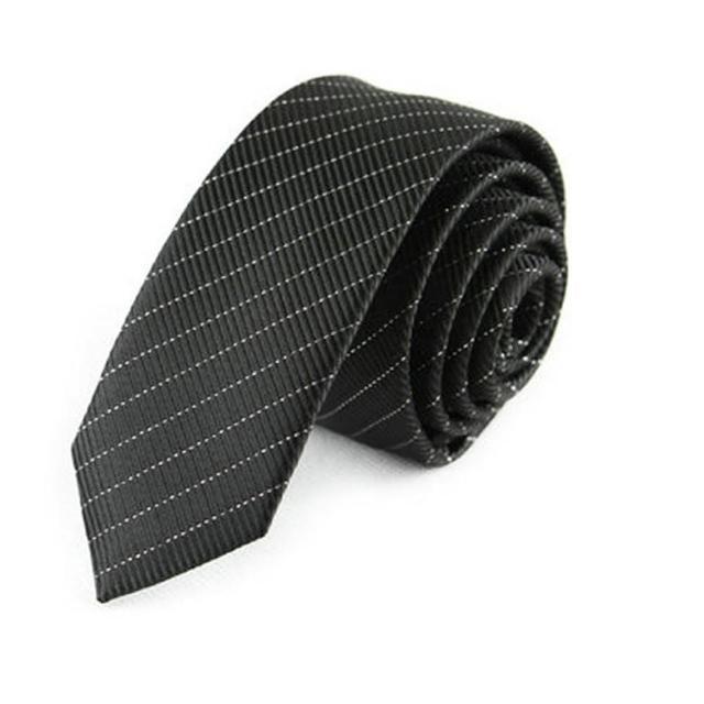 【拉福】領帶窄版領帶韓版領帶5cm手打領帶(黑白斜線)
