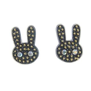 ~Lady c.c.~黑色兔兔鑽石眼睛耳環