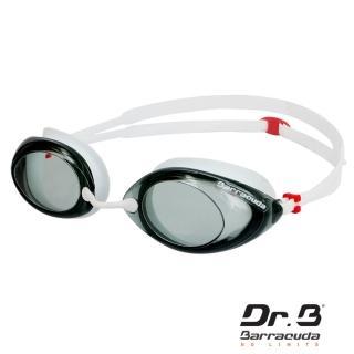 【美國巴洛酷達Barracuda】光學度數泳鏡巴博士Dr.B(#32295 RACER 白)