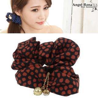 【Angel Rena】點點圈圈˙水晶珠珠墜飾髮束(黑棗紅)
