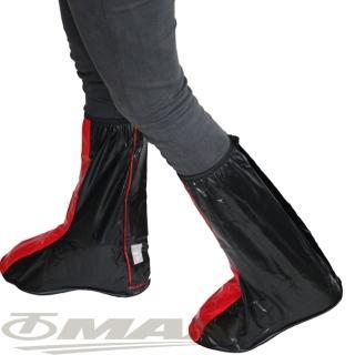 【天龍牌】超跑賽車型雨鞋套-紅黑