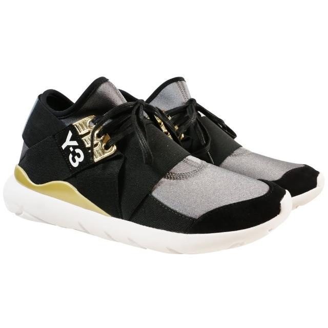 【Y-3 adidas】QASA ELLE LACE 武士忍者鞋(黑金)