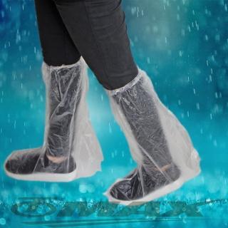 【omax】透明通用型雨鞋套-24雙(12包)