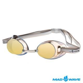 ~俄羅斯MADWAVE~成人競技型電鍍泳鏡 RACER SW MIRROR