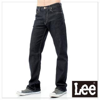 【Lee】727 中腰標準直筒-男款深黑藍(中腰、直筒)