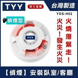 【TYY】光電式偵煙型住宅用火災警報器(單獨型/國台語音警報音/Panasonic專用鋰電池/台灣製造)