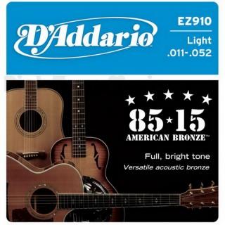 【美佳音樂】D'Addario EZ910 美國進口民謠吉他套弦(11-52)