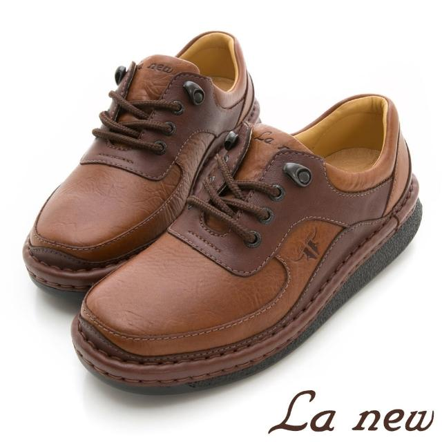 【La new】雙密度PU氣墊休閒鞋(男208012282)