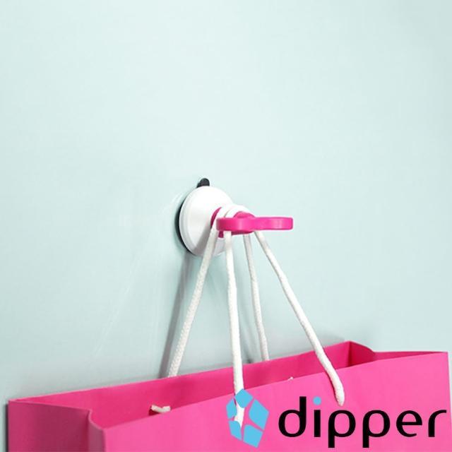 【dipper】強力吸盤壁掛-中(桃色)
