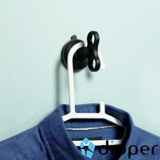 【dipper】強力吸盤壁掛-中(黑色)