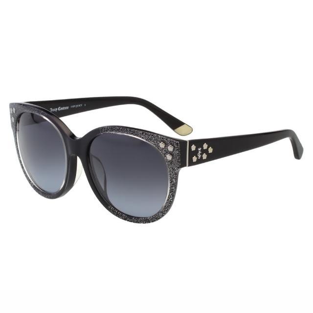 【Juicy Couture】-復古 太陽眼鏡JUC801FS(銀蔥黑)