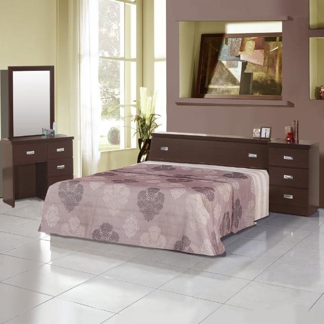 【樂和居】雅典五件式5尺雙人房間組3色可選(床頭+床底+床墊+鏡台+床頭櫃)