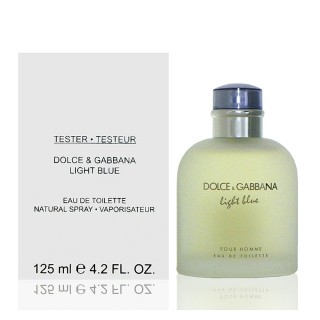 【組合 Dolce & Gabbana】D&G Light Blue  淺藍男性淡香水(125ml Tester 包裝)
