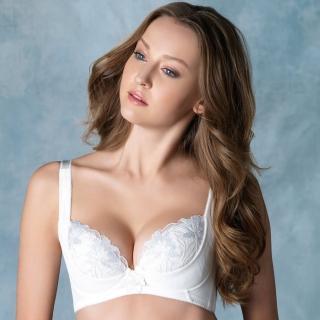 【LADY】安布羅莎系列 刺繡機能調整型內衣 B-D罩(暮光白)