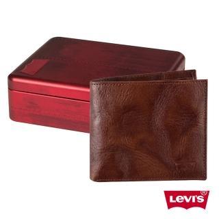 【Levis】男款棕咖啡色短款皮夾
